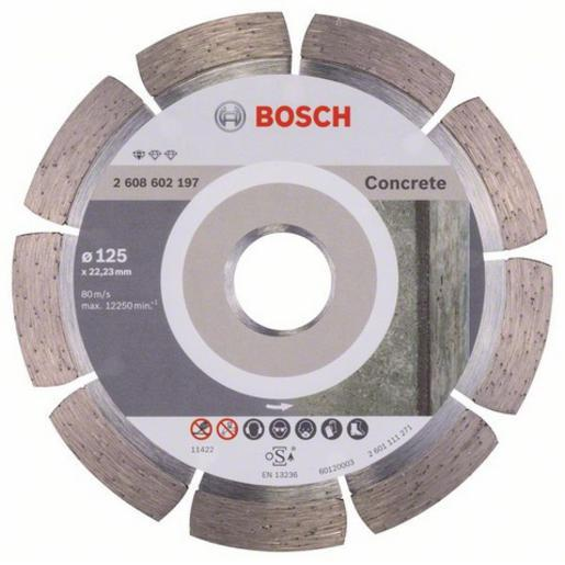 Disque à tronçonner diamanté 125 Standard for Concrete - BOSCH